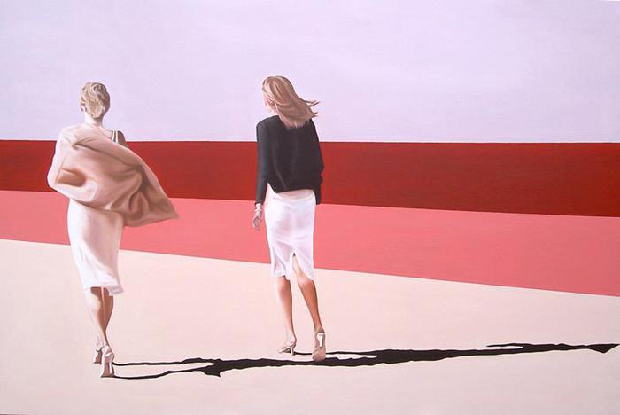 Drew Darcy 1976 - British Fashion Figurative painter - Lady in Red - Tutt'Art@ (22) (700x468, 22Kb)