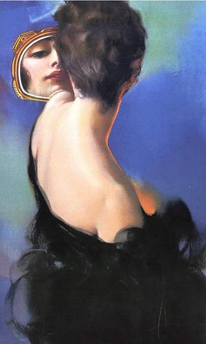 женщина у зеркала (300x500, 79Kb)