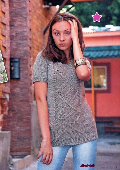 Как связать спицами рукав свитера 6