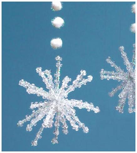 Делаем новогодние снежинки своими руками фото