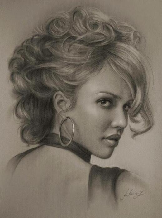 портреты простым карандашом4 (520x700, 181Kb)