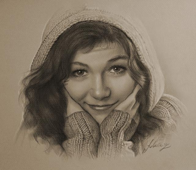 портреты простым карандашом10 (640x553, 231Kb)