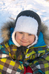 Детская двухслойная вязаная шапка-ушанка. Описание вязания крючком. (167x250, 38Kb)