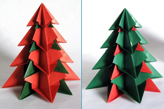 Новогодняя елка из бумаги -