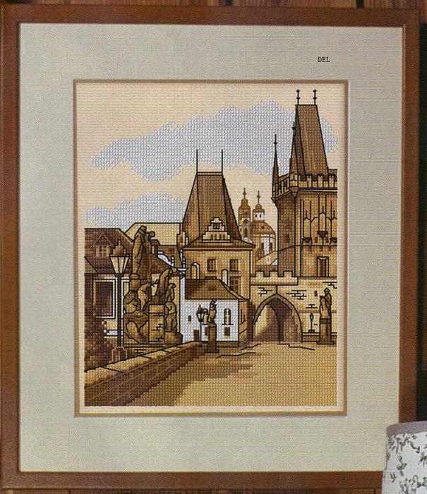 Вышивка. Мост в Праге