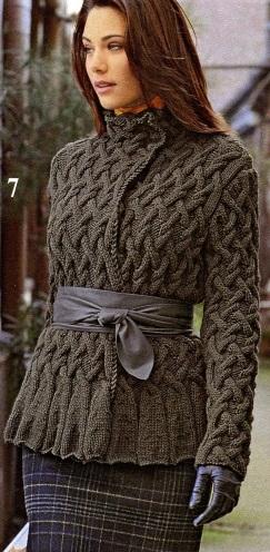 Вязанная кофта женская