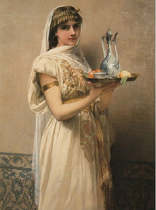 Serving Tea, by Jules Joseph Lefebvre (519x700, 251Kb)