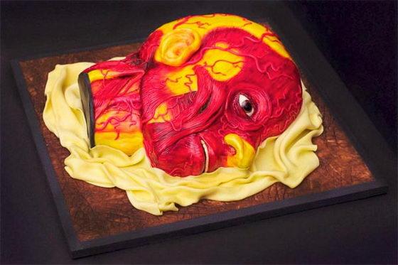 необычный торт голова 1 (560x373, 39Kb)