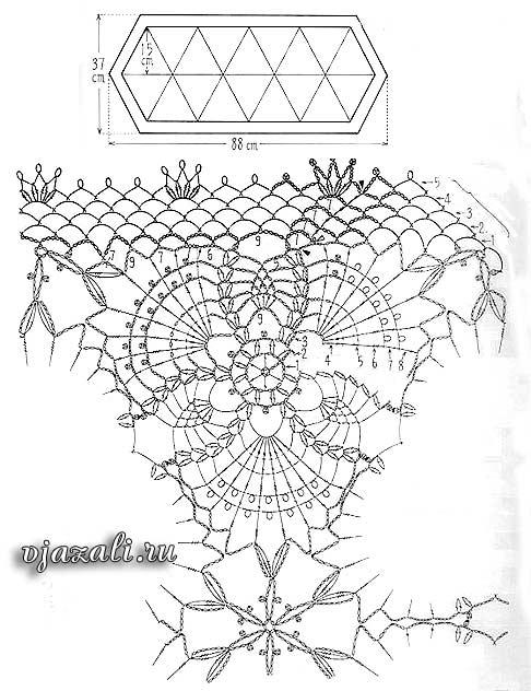 Прямоугольные мотивы крючком схемы