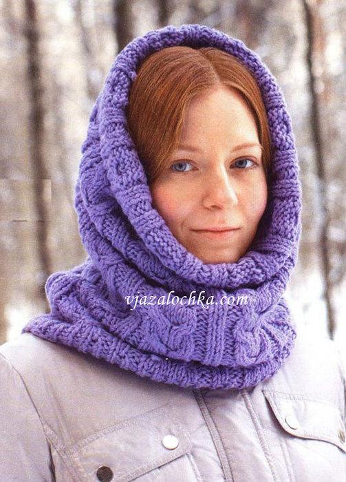 Вязание капора мадам.