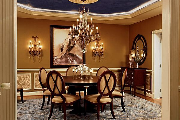 Luxury decor for dining room table