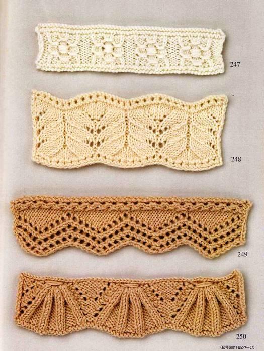 Интересный элемент вязания спицами, представляет собой группу обвитых вытянутых.
