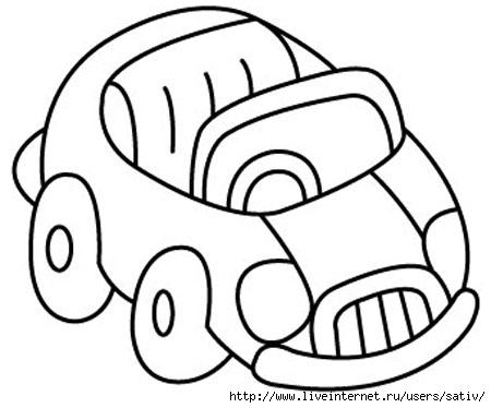 Раскраски на тему транспорт для детей 3-4