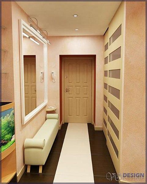 Дизайн небольшого коридора в квартире