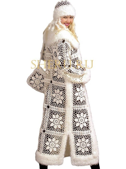 Вязаный крючком костюм «Снегурочки»