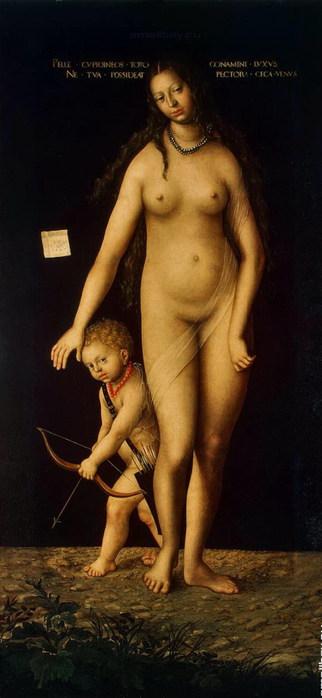 Венера и Амур, 1509  Эрмитаж (322x700, 52Kb)