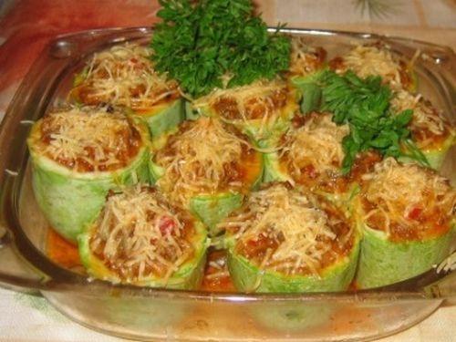 Кабачки фаршированные рецепты блюд фото