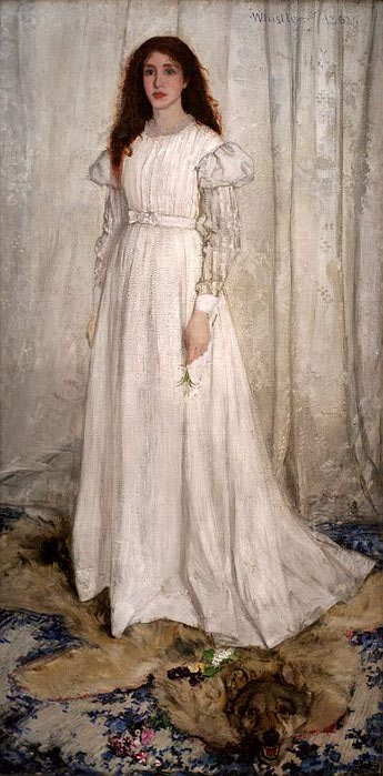 James Mcneill Abbott Whistler, Symphony in White No.1 (345x700, 60Kb)