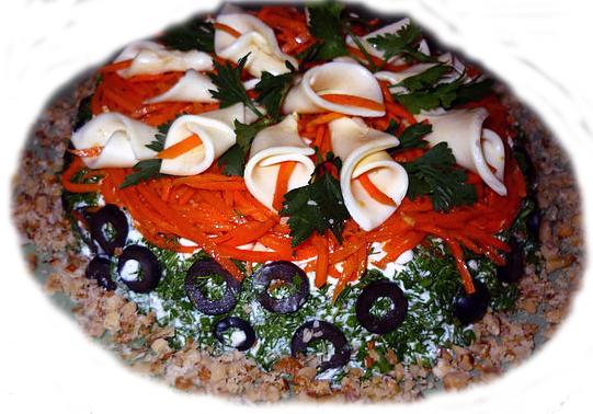 праздничные красивые вкусные салаты