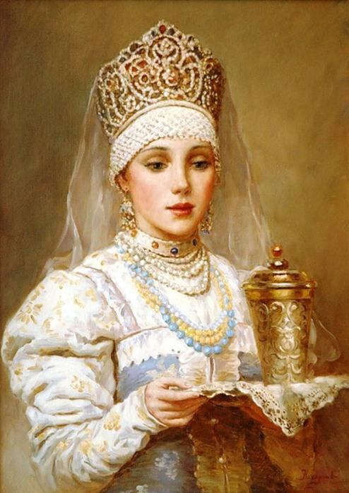 Russian Paintings Of Women Царь Ива...