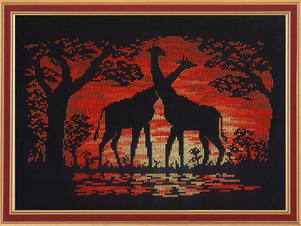 giraffe_sunset (600x450, 314Kb)