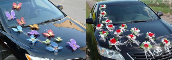 Как украсить машину своими руками на свадьбу недорого