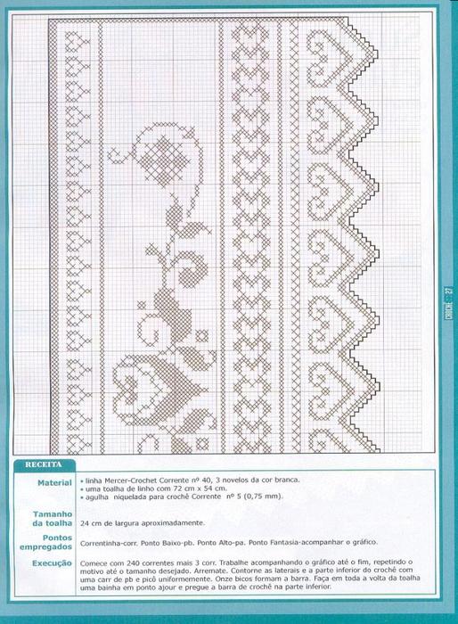 Схема туники филейным вязанием крючком схемы