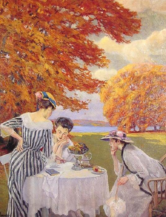 edward cucuel-tea_in_the_park (535x700, 89Kb)