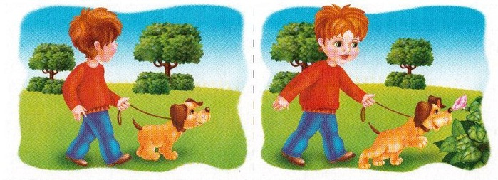 Рисунок прогулка с собакой
