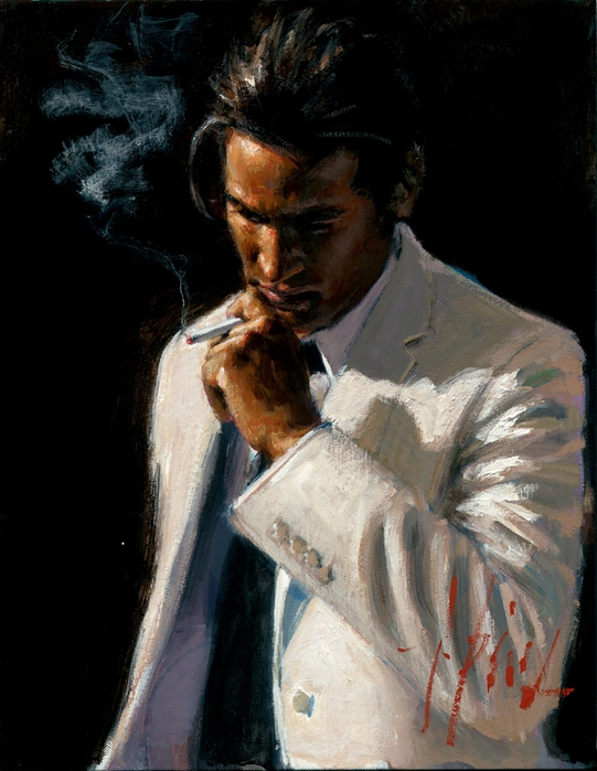 Fabian Perez 1967 - Argentine Figurative painter - Male Painting - Tutt'Art@ (541x700, 252Kb)