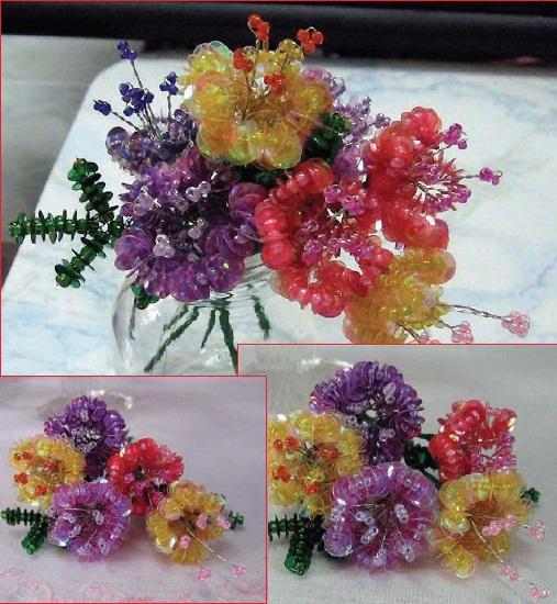 По изготовлению цветов из пайеток и