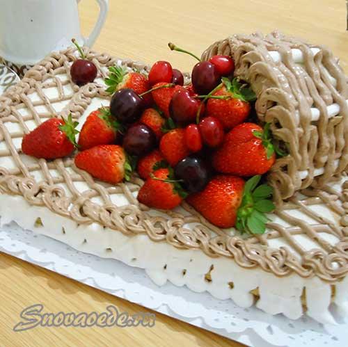 Торт корзинка с клубникой рецепт с пошагово в домашних условиях