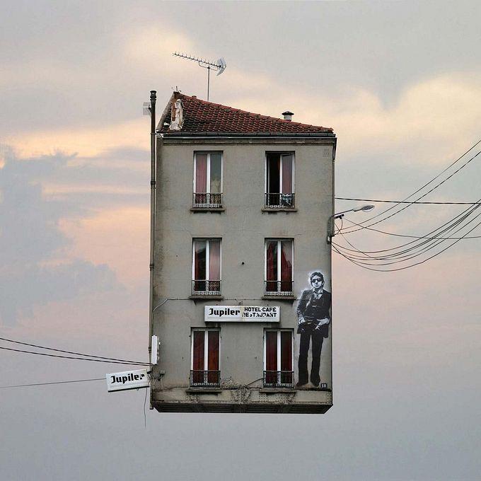 Laurent Chéhère летающие дома фото 2 (680x680, 68Kb)