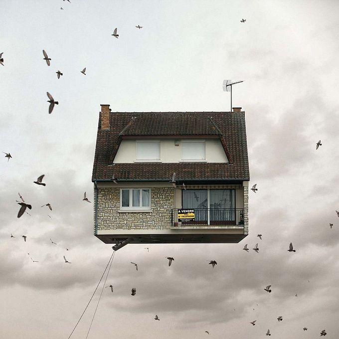 Laurent Chéhère летающие дома фото 9 (680x680, 71Kb)