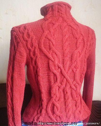 Женский пуловер с аранами с доставкой