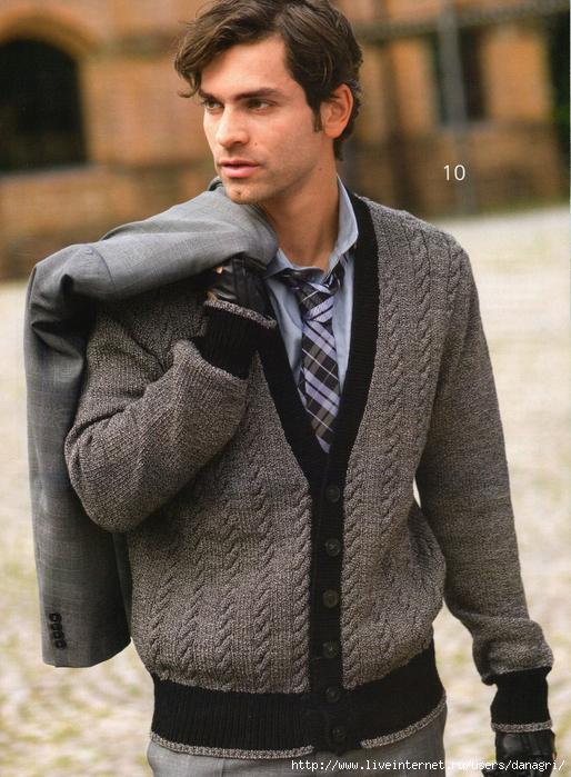 САБРИНА.  Спецвыпуск 11 2011.  Вязаная мода для мужчин.  Прочитать целикомВ.
