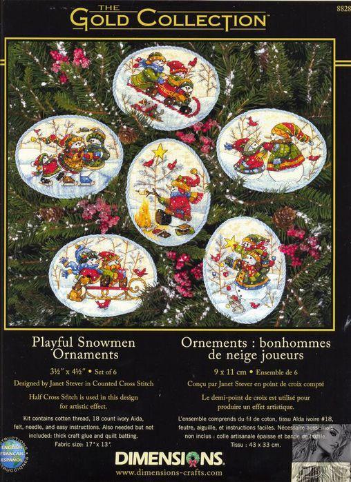 Playful  Snowmen  Ornaments (1) (508x700, 113Kb)