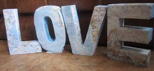 Сделать буквы на свадьбу своими руками