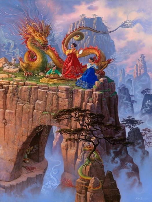 Dragon Serenade (525x700, 328Kb)