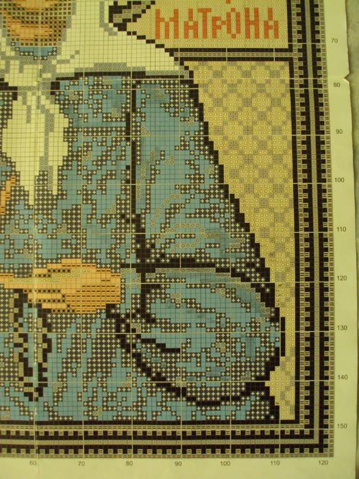 Вышивка крестом икона матроны