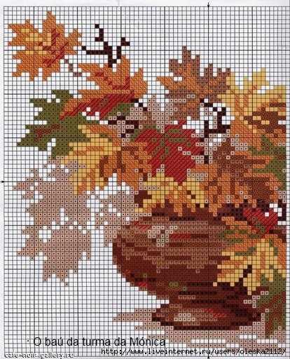 Осенний букет вышивка крестом