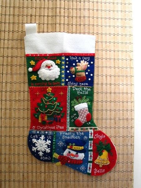рождественнский носок для подпрков (453x604, 92Kb)