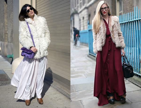 Макси юбки осень-зима