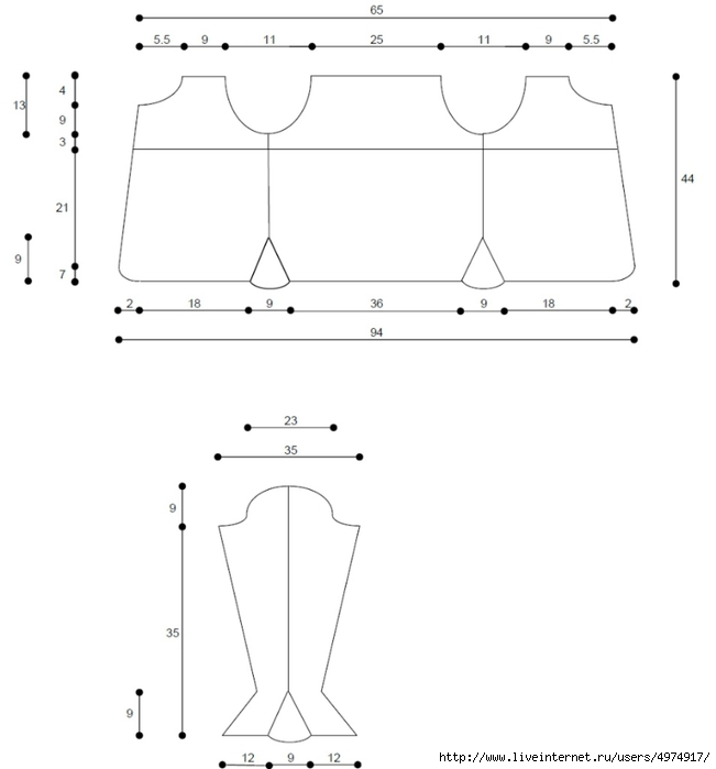 olga_milky_cardi_sizes (651x700, 67Kb)