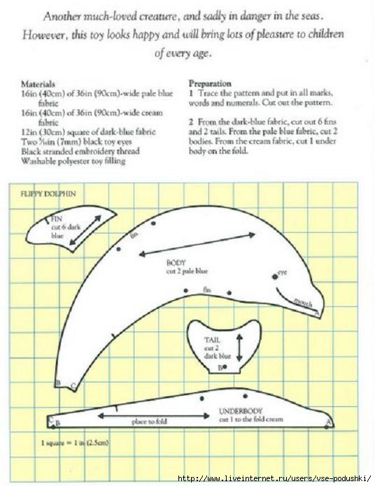 Схема игрушки дельфин
