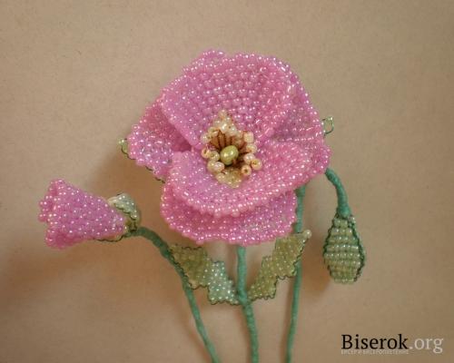 Пошаговый мастер-класс изготовления лилового мака из бисера (purple poppy) В этот раз я решила плести цветок мака не...
