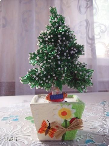 Графическая схема плетения елки на Новый Год.