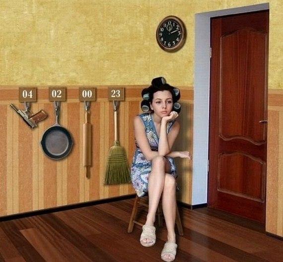 Жена ждет мужа (570x526, 62Kb)