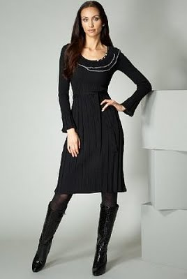 knitted frill dress with belt (268x400, 12Kb)