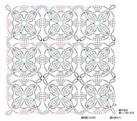 Цветы крючком для безотрывного вязания крючком